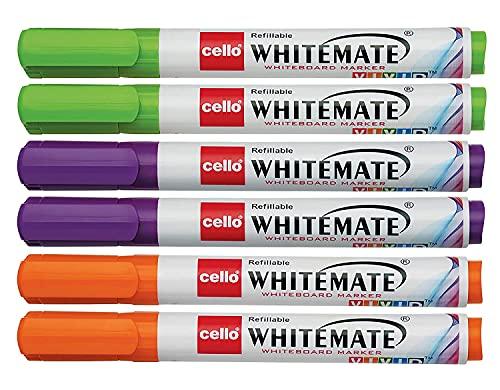 Cello Whitemate Vivid Whiteboard Marker Easily refillable | Writes longer