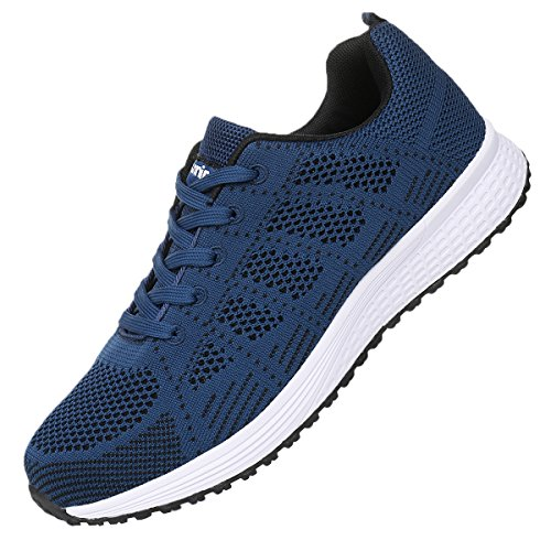 JARLIF Men's Breathable Fashion Walking Sneakers Lightweight Athletic Tennis Running Shoes (11 D(M) US, Blue)