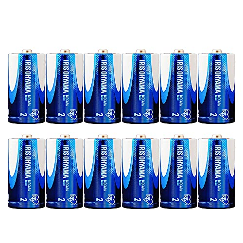 【Amazon.co.jp限定】 アイリスオーヤマ 乾電池 単2 アルカリ 12本パック 5年保存 BIGCAPA basic 12P