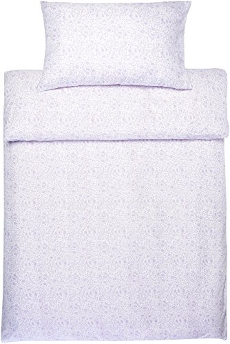 AmazonBasics - Juego con funda de edredón, en microfibra, 135cmx200cm, 50cmx80cmx1, estampado de cachemir en color lavanda