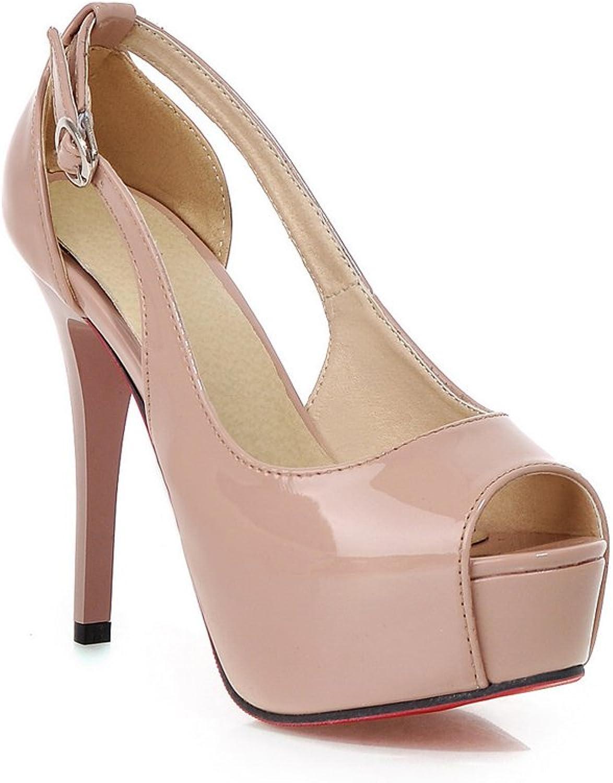 Lucksender Womens Sexy Peep Toe Stiletto High Heel Party Dress Sandals