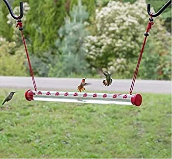 Bob s Best Hummingbird Feeder with Hole for Outdoors Outside Birds Feeding Transparent Pipe for for Ground Windooe Tree Garden Yard Decor Easy to Use  16