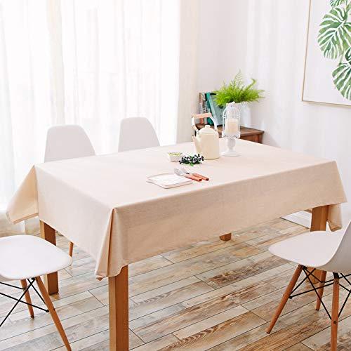 Pridesong Rechteckige Tischdecke, wasserdicht, Leinen, Kaffee, Restaurant, Baumwolle
