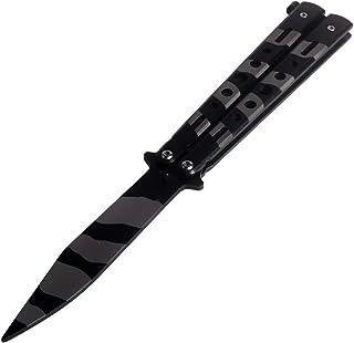 Cuchillo de Entrenamiento para el Amante de CSGO Acero Inoxidable Negro CS/HDD12