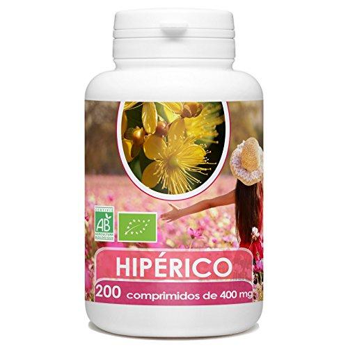 Hipérico (Hierba de San Juan) Organico 400 mg - 200 comprim