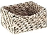 La Jolla Rattan Organizing & Shelf Basket, White Wash