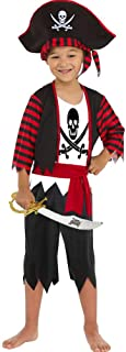 Boys Pirate Costume Children's Pirate Role Play Dress-up Set with Hat, Sword and Eye Patch