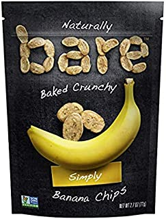 bare Organic Baked Crunchy Bananas, Simply, 6 Count