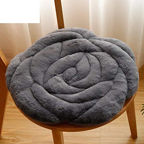 YLCJ kussen roze, kussen voor bureaustoelen, [herfst en winter] stoel van tatami, gestoffeerd, met zacht kussens, tapijt - donkergrijs, 45 x 45 cm