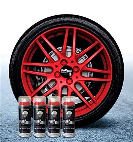 Sophisticauto Full Dip Packs Ahorro Llantas 4 Sprays Rojo Metalizado Mate