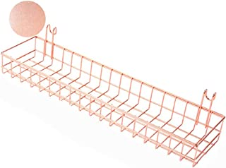 ANZOME Or Rose Panier pour Gridwal/Grille Panneau à Suspendre Organiseur de Fils de Rangement en métal étagère Rack Décor ...