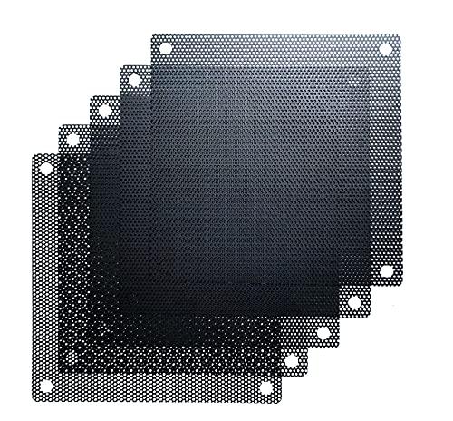 120mm PVC Black PC Cooler Fan Dust Filter Case Cover Computer Mesh (120mm, 5 Pc Pack)