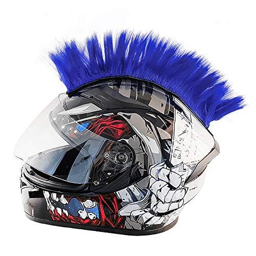 Wamsatto Motorrad Helmzubehör in Punk Stil   Helmabdeckung mit Mohawk Frisur Irokese Perücke für Snowboardhelm Fahrradhelm   Einfarbiger Helmdeko Aufkleber für Erwachsene OHNE Helm