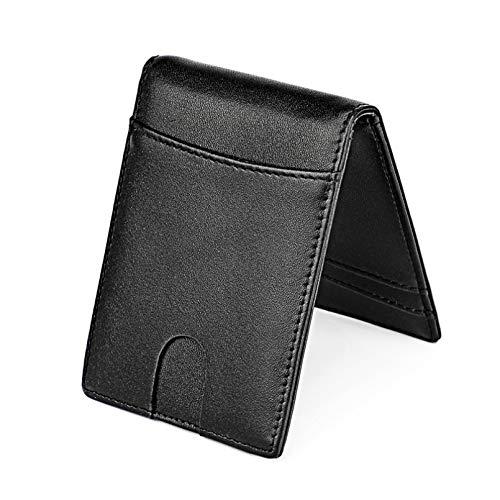 BGBG Billetera de Hombre Corta RFID Bloqueo de Fibra de...