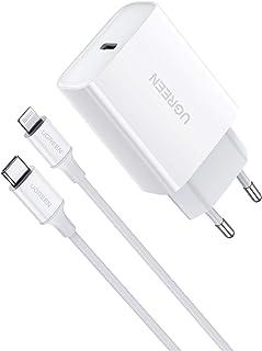 UGREEN 18W Cargador USB C Power Delivery 3.0, Tipo C Cargador de Carga Rapida QC4.0/ QC 3.0 Compatible para iPhone 12, 12 ...