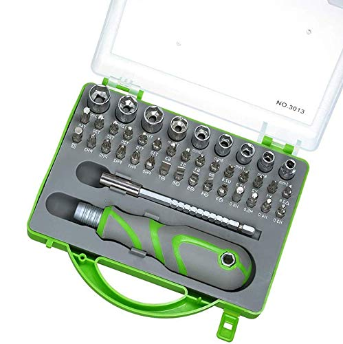 QTDH Mini-ratchet, 41 stuks, E-bit-dopsleutelset, steeksleutelset, handschroevendraaier, multifunctionele schroevendraaier, reparatiegereedschap voor elektrische voertuigen, mechanisch