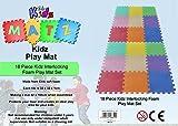 Edz Kidz 18 PC 32 x 32 x 1cm Interlocking Foam Play Mat Set