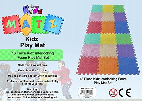 Edz Kidz Kinder Puzzlematte Spielmatte (18 Stück Spielmatte)