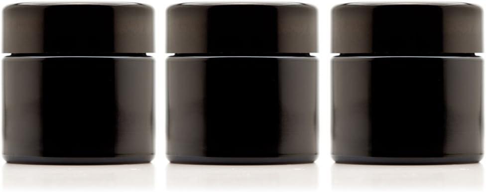 Infinity Jars OFFer Popular brand in the world 100 ml 3.3 fl Refillable Black Ultraviolet Em oz