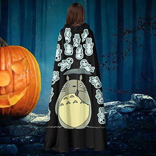 AISFGBJ Kodama Rain Of Spirits Studio Ghibli Unisex Natale Halloween Strega cavaliere con cappuccio accappatoio vampiri mantello mantello Cosplay costume