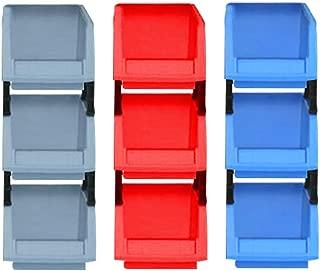 UnfadeMemory Organizador de Herramientas para Pared,Armario Almacenaje Herramientas de Taller,Gavetas de Almacenaje,Pl/ástico Azul y Rojo 24 Cajas