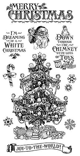 Graphic 45 St Nicholas Cling Stamps Set 2 (of 3)