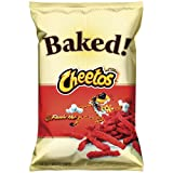 Baked Cheetos Oven Baked Crunchy Flamin' Hot Cheese Flavored Snacks, 7.625 oz Bag