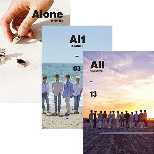SEVENTEEN [AL1] 4th Mini Album RANDOM Ver. CD + Libro de fotografías + Tarjeta postal + Tarjeta + Adhesivo + K-POP SELLADO + NÚMERO DE SEGUIMIENTO