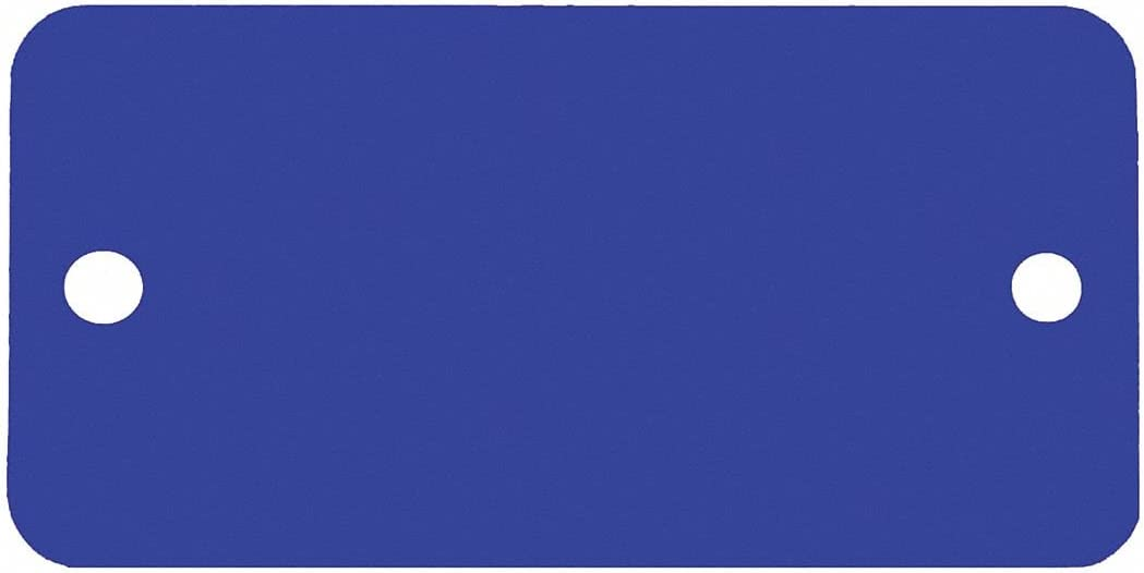 CH Hanson Blue Blank Max 46% OFF Tag Aluminum Super special price 5 - Rectangle PK Height 2