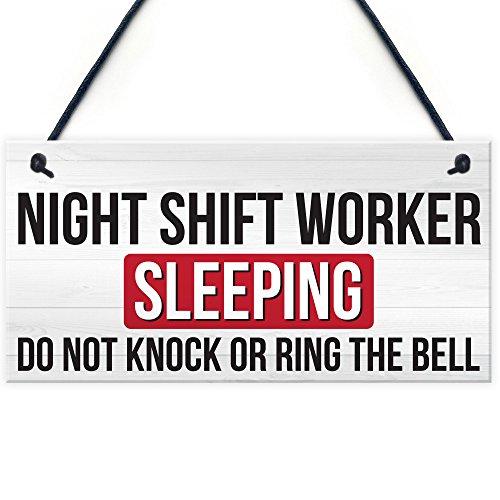 XLD Store Night Shift Worker Sleeping Do Not Disturb Hanging Plaque Plastic Door Sign 5