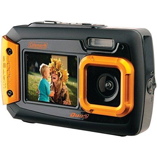 COLEMAN 2V9WP-O 20.0-Megapixel Duo2 Dual-Screen Waterproof Digital Camera (Orange)