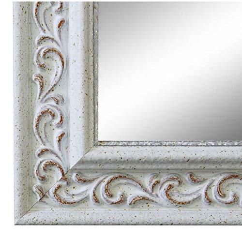 Online Galerie Bingold Spiegel Wandspiegel Badspiegel Flurspiegel Garderobenspiegel - Über 200 Größen - Verona Weiß 4,4 - Außenmaß des Spiegels 50 x 100 - Wunschmaße auf Anfrage - Modern