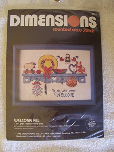Welcome All Counted Cross Stitch Kit