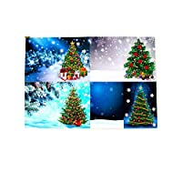 Aibecy 8pcs 5D DIY Diamond Painting Christmas Cards Halloween Christmas Birthday Greeting Cards with Envelopes and Tools Art Craft Handmade Gift for Children Family Friends