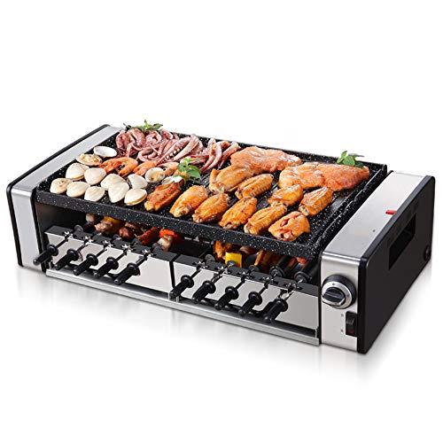 Griglia Per Barbecue Elettrica Automatica Tavolo Per Interni Senza Fumo BBQ Grigliare Temperatura Regolabile Antiaderente Cuochi Barbecue Elettrico,10roots