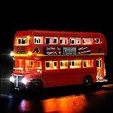 Juego de luces para Lego 10258, kit de luces LED Compatible con el modelo de bloques de construcción (Autobús de Londres Creator Expert) (NO incluido el modelo)