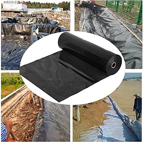 ZHANGYUQI Garden Landscaping Pool Liner, Rubber Pond Liner, Flexible Impermeabl Sun Protection Plastic Tarps, For Reservoir River Foundation Proof Moisture(Size:1x8m,Color:Black)