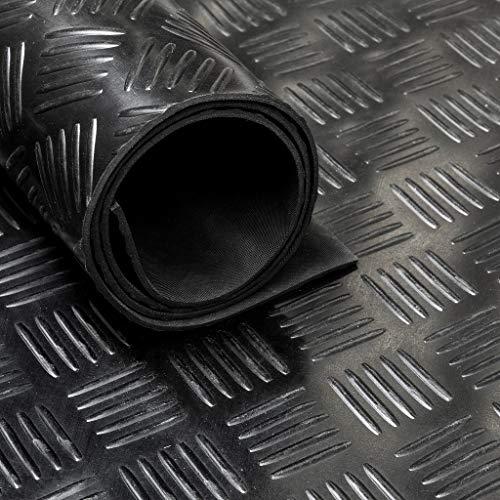 Tapis caoutchouc larmé - type checker 3 mm - au mètre linéaire (Largeur 150cm)