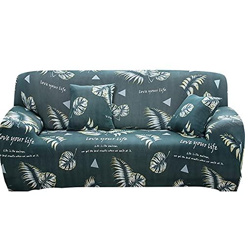 WXQY Funda elástica para sofá con Todo Incluido, Funda para sofá en Forma de L Funda para sillón para Sala de Estar, Funda Protectora para Muebles A18 de 4 plazas