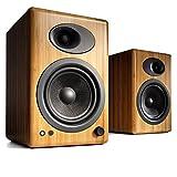 Audioengine A5+ Classic 150W Altavoces de estantería | Amplificador Analógico Incorporado | Control Remoto | Entradas RCA y 3.5mm. | Cables Incluidos (Bamboo)