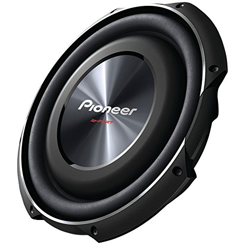 PIONEER TS-SW3002S4 12' 1,500-Watt Shallow-Mount Subwoofer with Single 4ohm Voice Coil