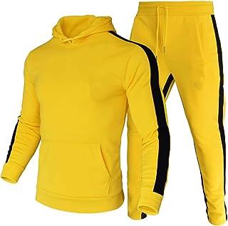 amropi Conjunto de Chandal Jogging para Hombre Sudaderas con Capucha y Pantalones 2 Piezas