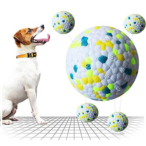 Juguetes para Perros Pelota de Goma Indestructible, Juguete Interactivo para Perros y Pelota Chillona para Perros Mordedura Molar para Perros Pequeños Medianos Grandes (Azul y Verde)