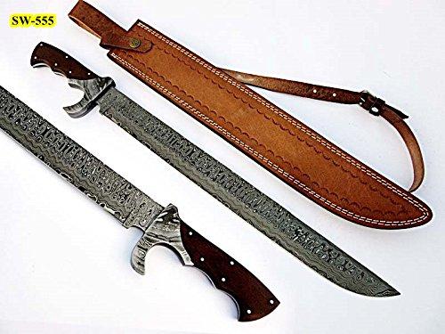 Poshland Sw-555, Handmade Damascus Steel 23 Inches Sword - Beautiful G-10 Micarta Handle with...