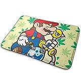 マリオ Mario 3 屋内屋外ドアマットラグフロアマット滑り止め寝室用バスルームリビングルームキッチン23.6×15.7チ家の装飾