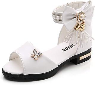 comprar comparacion YWLINK NiñO NiñAs Grande Borla Arco Perla Rhinestone Princesa Zapatos Botas Romanas Zapatos De Baile Sandalias Zapatos De ...