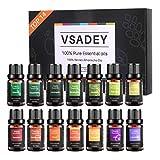 VSADEY Oli Essenziali di Aromaterapia 14 x 10 ml Set, 100% puro e naturale Bio olio essenz...