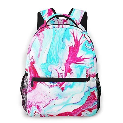 Rucksack Männer und Damen, Laptop Rucksäcke für 14 Zoll Notebook, Marmorfarbe Kinderrucksack Schulrucksack Daypack für Herren Frauen