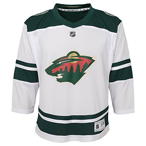 Outerstuff Youth NHL Replica Jersey-Away Minnesota Wild, White, Youth Large (12-14)