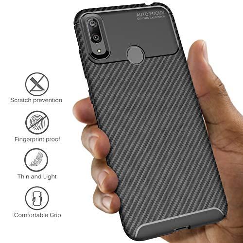 iBetter für Huawei Y7 2019 Hülle, für Huawei Y7 Prime 2019 Hülle, Ultra Thin Tasche Cover Silikon Handyhülle Stoßfest Case Schutzhülle Shock Absorption Backcover passt für Huawei Y7 2019 Phone - 3
